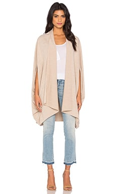 Oversized Cocoon Cape in Heather Beige Knit
