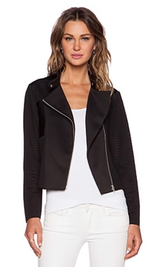 Shades of Grey by Micah Cohen Sheer Moto Jacket in Black