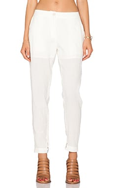 Shades of Grey by Micah Cohen Cuffed Trouser in Ivory