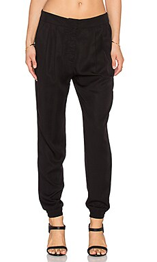 Shades of Grey by Micah Cohen Pleated Jogger Pant in Black