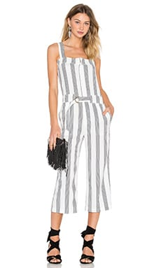 Shades of Grey by Micah Cohen Utility Jumpsuit in Sailor Stripe Linen Crepe