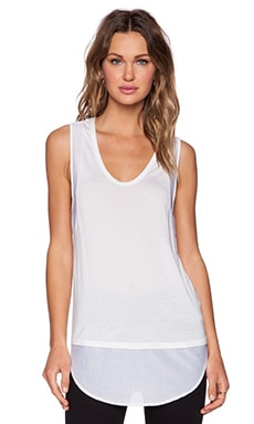 Shades of Grey by Micah Cohen Racerback Shirttail Tank in White
