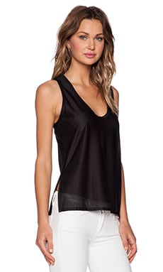 Shades of Grey by Micah Cohen Split Side Tank in Black
