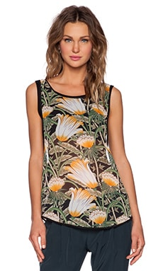 Shades of Grey by Micah Cohen Bandeau Tank in Jungle Flower