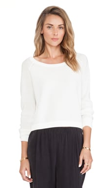 SHAE Cropped Pullover Sweater in Solid Powder