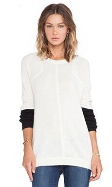 SHAE Sochi Cashmere Sweatshirt in Vanilla Combo