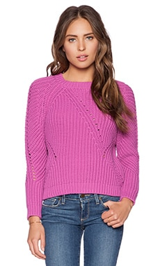 SHAE Nemo Cropped Pullover in Hot Pink