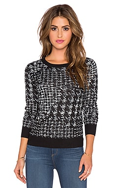 SHAE Masha Sweater in Black Trim Combo