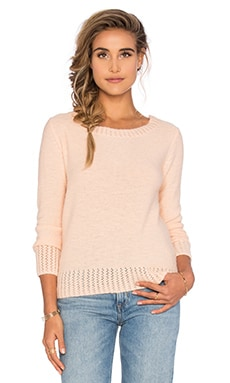 SHAE Sasha Ruched Back Sweater in Pink Salt