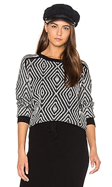 Zig Zag Sweater in Black Combo