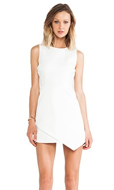 Polished Envelope Dress in White