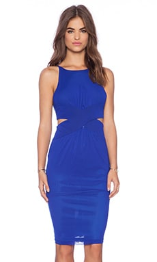 Shakuhachi Cutaway Dress in Cobalt