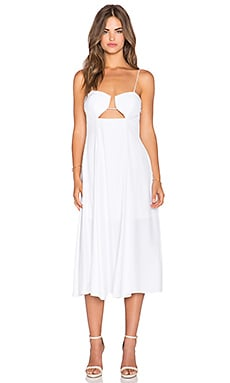 Shakuhachi Provence Hardwire Midi Dress in White