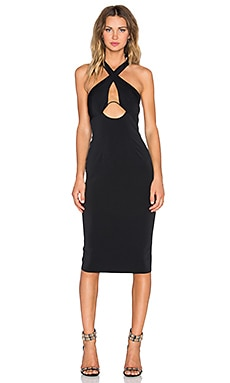 Shakuhachi X Rated Hard Wired X Front Dress in Black