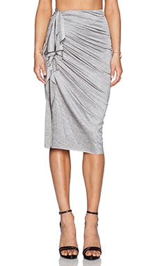 Shakuhachi Marle Fleck Keyhole Skirt in Light Grey