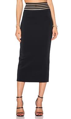 Shakuhachi Galaxy Ankle Skirt in Black