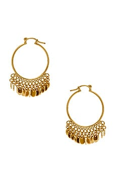 Disc Drop Hoop Earrings