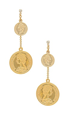 Coin Drop Earring SHASHI $40