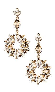 82b73e09d Sunburst Crystal Drop Champagne Earring SHASHI $40 ...