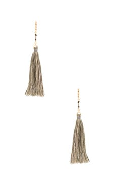Carolina Tassel Earring in Khaki