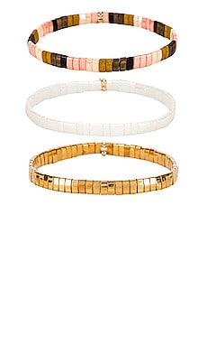 Tilu Set of 3 Bracelets SHASHI $62