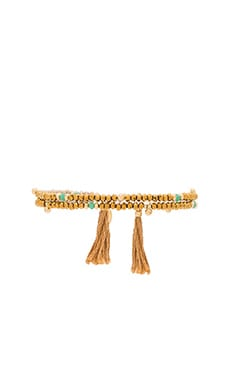 SHASHI Eliza Crystal Wrap Bracelet in Gold