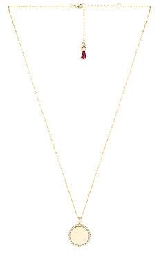 Disc Pave Pendant Necklace SHASHI $29