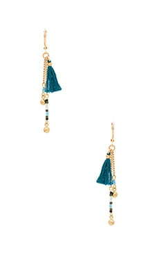 SHASHI Giana Drop Earring in Teal