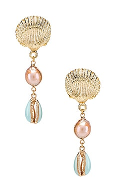 Melody Shell Drop Earring SHASHI $53