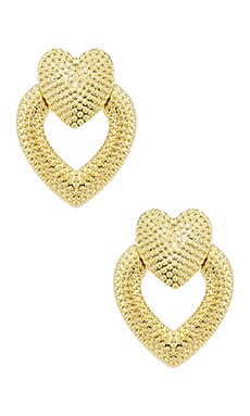 СЕРЬГИ HEART KNOCKER SHASHI $38