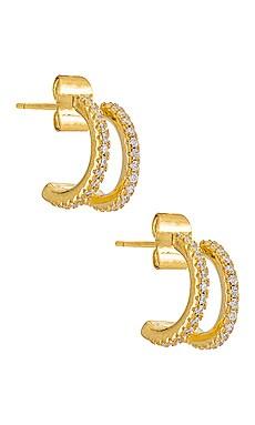 Erin Pave Hoop Earring SHASHI $64
