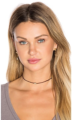 SHASHI Ballerina Choker in Brown