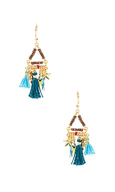 SHASHI Lilu Charm Earrings in Pyrite