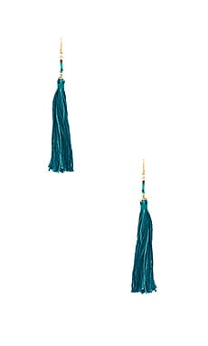 Carolina Tassel Earring in Teal