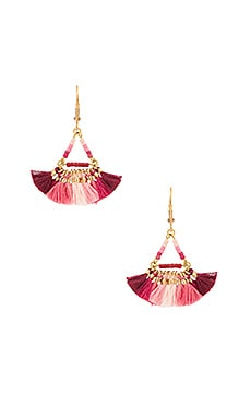 Lilu Earring in 紫紅色