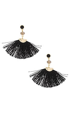 Mia Fan Earring in Black