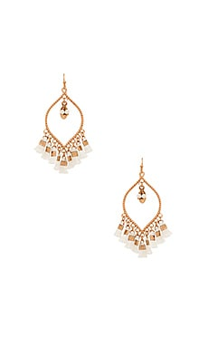 Mira Tassel Earring in White
