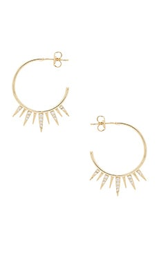 Arushi Hoop Earrings in Yellow Gold