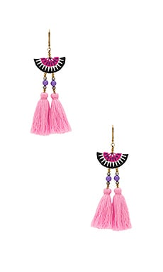 Camilla Drop Earring en Rose Léger