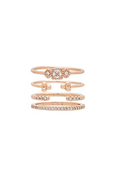 Jasmine Ring Set in Rose Gold