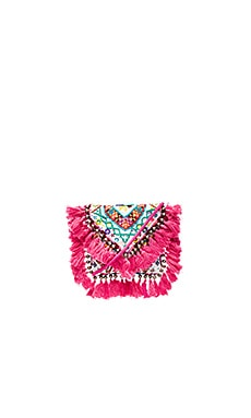 Tatiana Clutch in Fuchsia