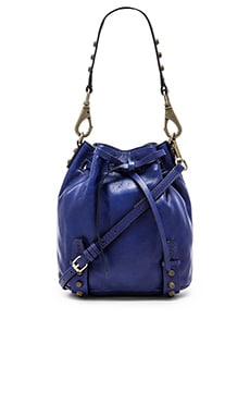 she + lo Aim High Mini Bucket Bag in Dark Purple