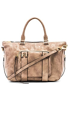 she + lo Next Chapter Satchel Bag in Cream Metallic