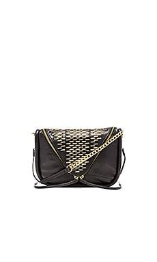 she + lo Breakthrough Studded Zip Crossbody Bag in Studded Black