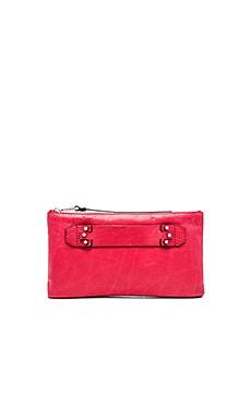 she + lo Next Chapter Clutch in Lipstick Red