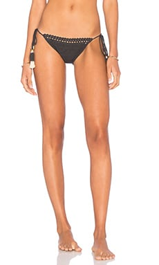 Tie Side Bikini Bottom in Charcoal
