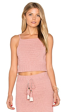Jannah Crochet Cami Top in Blush