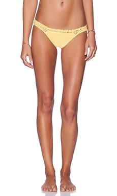 SHE MADE ME Crochet Cheeky Bikini Bottom in Sunshine