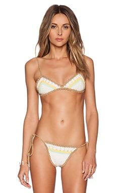 SHE MADE ME Stevie Triangle Bikini Top in Natural