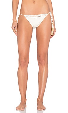 Crochet Side Tie Bikini Bottom in Natural